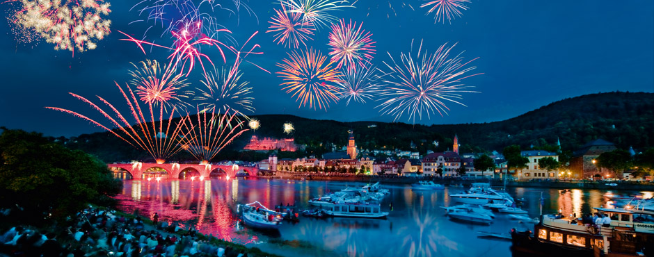 Image result for heidelberg castle with great firework